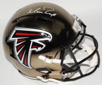 Matt Ryan Signed Falcons Full-Size Chrome Speed Helmet (Fanatics Hologram) at PristineAuction.com
