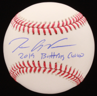 "Tim Anderson Signed OML Baseball Inscribed ""2019 Batting Champ"" (JSA COA) at PristineAuction.com"
