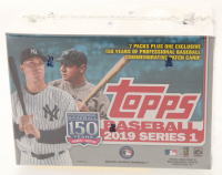 2019 Topps MLB Series 1 Baseball Blaster Box of (99) Cards at PristineAuction.com