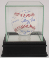 "Reds ""Big Red Machine"" OML Baseball Signed by (8) with Joe Morgan, Johnny Bench, Tony Perez, Pete Rose with High Quality Display Case (PSA Hologram) at PristineAuction.com"