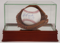 "Carl Yastrzemski Signed OML Baseball with Inscribed ""HOF 89"" & ""TC 67"" with High Quality Mini Glove Display Case (PSA COA) at PristineAuction.com"