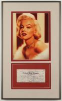 Marilyn Monroe Signed 12.75x20.75 Custom Framed Bank Check Display (JSA LOA) at PristineAuction.com