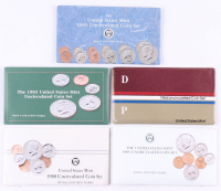 Lot of (5) United States Mint Uncirculated Coin Sets with 1984, 1988, 1989, 1991, & 1993 at PristineAuction.com