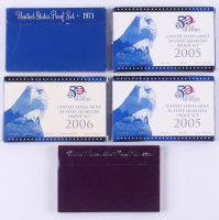 Lot of (5) United States Mint Proof Sets with 1971, 1989, (2) 2005 & 2006 at PristineAuction.com