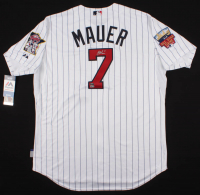 Joe Mauer Signed Twins Jersey (Steiner COA & MLB Hologram) at PristineAuction.com