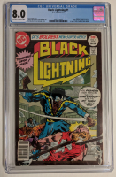 "1977 ""Black Lightning"" Issue #1 DC Comic Book (CGC 8.0) at PristineAuction.com"