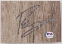Kristaps Porzingis Signed 3.5x5 Floor Tile Piece (PSA COA) at PristineAuction.com
