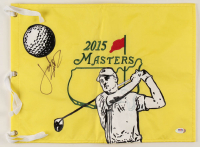 Jordan Spieth Signed 2015 Masters Golf Pin Flag with Custom Hand-Painted Portrait (PSA COA) at PristineAuction.com