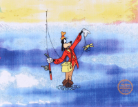 "Walt Disney Goofy ""How to Fish"" LE 11x14 Animation Serigraph Cel at PristineAuction.com"