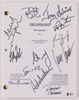 """The Sopranos"" Pilot Episode Script Signed by (12) with Jamie-Lynn Sigler, James Gandolfini, Edie Falco (Beckett LOA) at PristineAuction.com"