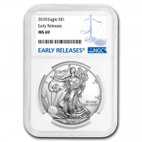 2020 American Silver Eagle $1 One Dollar Coin - Early Releases (NGC MS69) at PristineAuction.com
