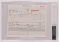 Adam Yauch Signed 7x8.5 MCA Document (BGS Encapsulated) at PristineAuction.com