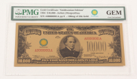 "1934 $10,000 Ten Thousand Dollars ""Smithsonian Edition"" Gold Certificate (PMG Gem Uncirculated) at PristineAuction.com"
