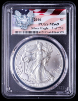 2016 American Silver Eagle $1 One Dollar Coin (PCGS MS69) at PristineAuction.com