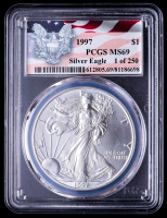 1997 American Silver Eagle $1 One Dollar Coin (PCGS MS69) at PristineAuction.com