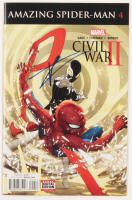 "Tom Holland Signed 2016 ""Civil War II: Amazing Spider-Man"" Issue #4 Marvel Comic Book (JSA COA) at PristineAuction.com"