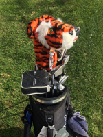 "Tiger Woods ""Frank"" Headcover created by Daphne's Headcover at PristineAuction.com"