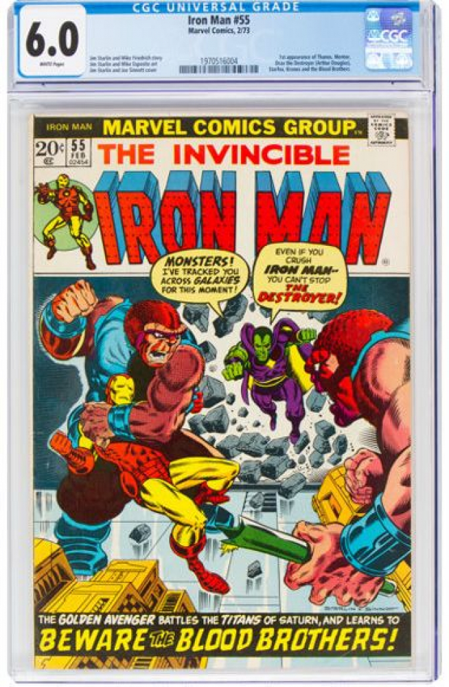 "1973 ""Iron Man"" Issue #55 Marvel Comic Book (CGC 6.0) at PristineAuction.com"