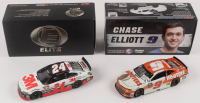 Lot of (2) Chase Elliott LE 1:24 Scale Die Cast Cars with (1) #24 3M 2016 SS Elite & (1) Signed #9 Hooter's 2019 Camaro ZL1 (RCCA COA & Elliott COA) at PristineAuction.com