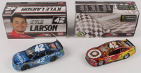 Lot of (2) Kyle Larson Signed LE 1:24 Scale Die Cast Cars with (1) #42 Credit One 2017 SS Color Chrome & (1) #42 Target Michigan Win 2017 SS (RCCA COA & PA Hologram) at PristineAuction.com