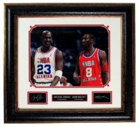 Kobe Bryant & Michael Jordan 21x23 Custom Framed Photo Display at PristineAuction.com
