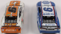 Lot of (2) Chase Elliott LE 1:24 Scale Die Cast Cars with (1) #9 Mountain Dew / Little Caesars 2019 Camaro ZL1 & (1) Signed #9 NAPA Darlington 2019 Camaro ZL1 (Elliott COA) at PristineAuction.com