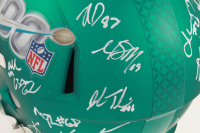 Super Bowl LIV Logo Full-Size Speed Helmet Signed by (24) with Katie Sowers, DeForest Buckner, Kyle Juszczyk, Jimmie Ward, K'Waun Williams, John Lynch (Beckett Hologram) at PristineAuction.com