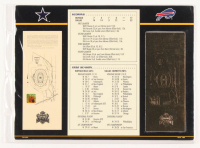 Super Bowl XXVII Commemorative Score Card with 22kt Gold Ticket at PristineAuction.com