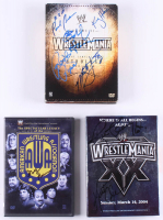 Lot of (3) Wrestling DVD Sets Signed by (8) with Rowdy Roddy Piper, Marty Jannetty, Ric Flair, Kurt Angle & Bobby Heenan (JSA ALOA) at PristineAuction.com