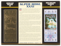 Super Bowl XXXI Commemorative Score Card with 22kt Gold Ticket at PristineAuction.com