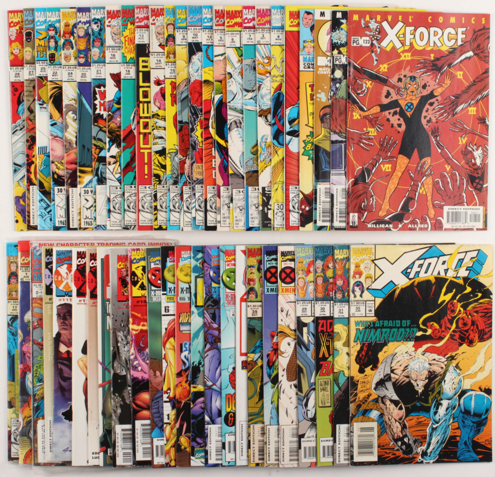 """Lot of (49) """"X-Force"""" Marvel Comic Books at PristineAuction.com"""