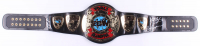 WWE Wrestlemania World Championship Belt Signed by (7) with Eric Bischoff, Kurt Angle, Lex Luger, X-Pac, Billy Jack Haynes, Rick Martel (JSA ALOA) at PristineAuction.com