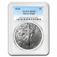 2020 American Silver Eagle $1 One Dollar Coin (PCGS MS69) at PristineAuction.com