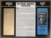 Super Bowl XXXVII Commemorative Score Card with 22kt Gold Ticket at PristineAuction.com