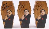 "Lot of (3) Paul Bearer Signed Custom Made WWF Mini Coffin Inscribed ""RIP"" & ""2011"" (JSA ALOA) at PristineAuction.com"