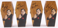 "Lot of (4) Paul Bearer Signed Custom Made WWF Coffin Inscribed ""RIP"" & ""2011"" (JSA ALOA) at PristineAuction.com"