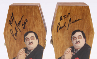 "Lot of (4) Paul Bearer Signed Custom Made WWF Coffin Inscribed ""RIP"" & ""2011"" (JSA ALOA) at PristineAuction.com"