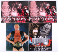 Lot of (4) WWE 16x20 Photos Signed by Mick Foley & Sid Vicious (JSA ALOA) at PristineAuction.com