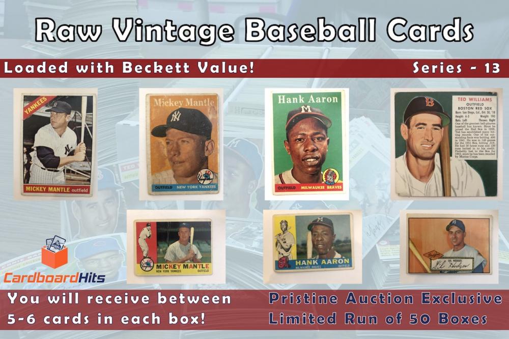 Cardboard Hits Vintage Baseball Mystery Box Series 13 at PristineAuction.com