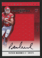 Patrick Mahomes II 2017 Panini Preferred #78 SL JSY AU RC at PristineAuction.com