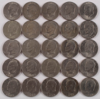 Lot of (25) Eisenhower $1 Dollar Coins at PristineAuction.com