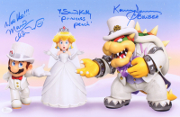 "Samantha Kelly, Kenny James & Charles Martinet Signed ""Super Mario"" 11x17 Photo with (4) Character Inscriptions (JSA COA) at PristineAuction.com"
