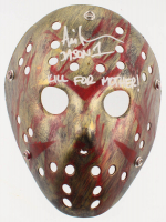 """Ari Lehman Signed """"Friday the 13th"""" Mask Inscribed """"Jason 1"""" & """"Kill For Mother!"""" (Lehman Hologram) at PristineAuction.com"""