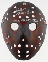 """Ari Lehman Signed """"Friday the 13th"""" Mask Inscribed """"Jason 1"""" & """"Kill Count 146!"""" (Lehman Hologram) at PristineAuction.com"""