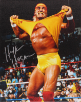 Hulk Hogan Signed WWE 16x20 Photo On Canvas (JSA COA) at PristineAuction.com