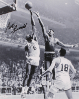 Bill Russell Signed Celtics 16x20 Photo On Canvas (JSA COA) at PristineAuction.com
