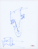 Dave Matthews Signed 8.5x11 Hand-Drawn Sketch (PSA COA) at PristineAuction.com