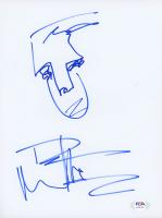 Dave Matthews Signed 8.5x11 Hand-Drawn Sketch (PSA COA) at PristineAuction.com