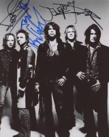 Aerosmith 8x10 Photo Band-Signed by (5) With Steven Tyler, Joe Perry, Tom Hamilton, Joey Kramer (JSA ALOA) at PristineAuction.com