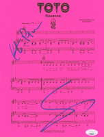 "Steve Lukather & Steve Porcaro Signed ""Rosanna"" 8.5x11 Sheet Music (JSA COA) at PristineAuction.com"